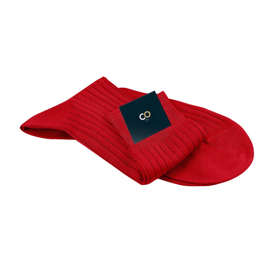 chaussettes rouges pour homme en fil d 39 cosse 100 coton. Black Bedroom Furniture Sets. Home Design Ideas