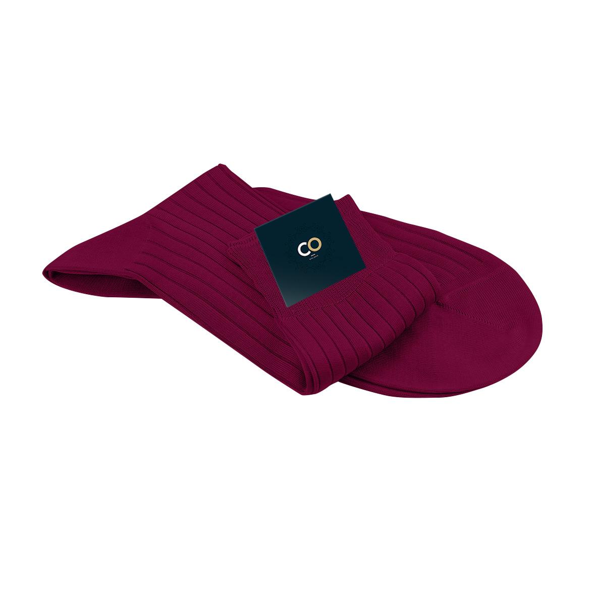 Chaussette rouge foncé, Rubis