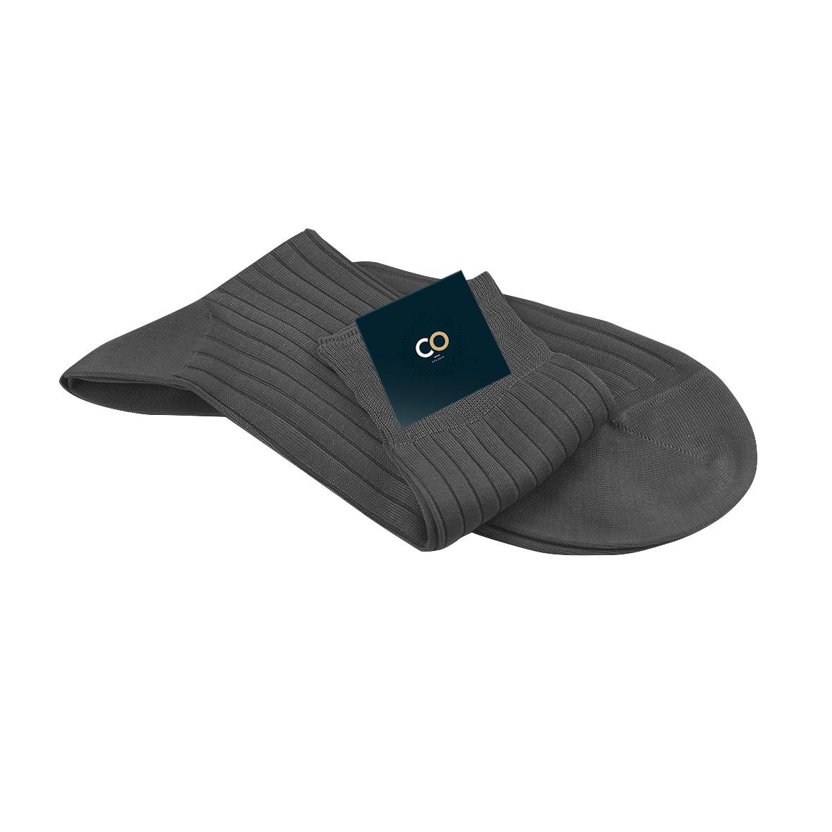 chaussettes gris acier pour homme en fil d 39 cosse 100 coton. Black Bedroom Furniture Sets. Home Design Ideas