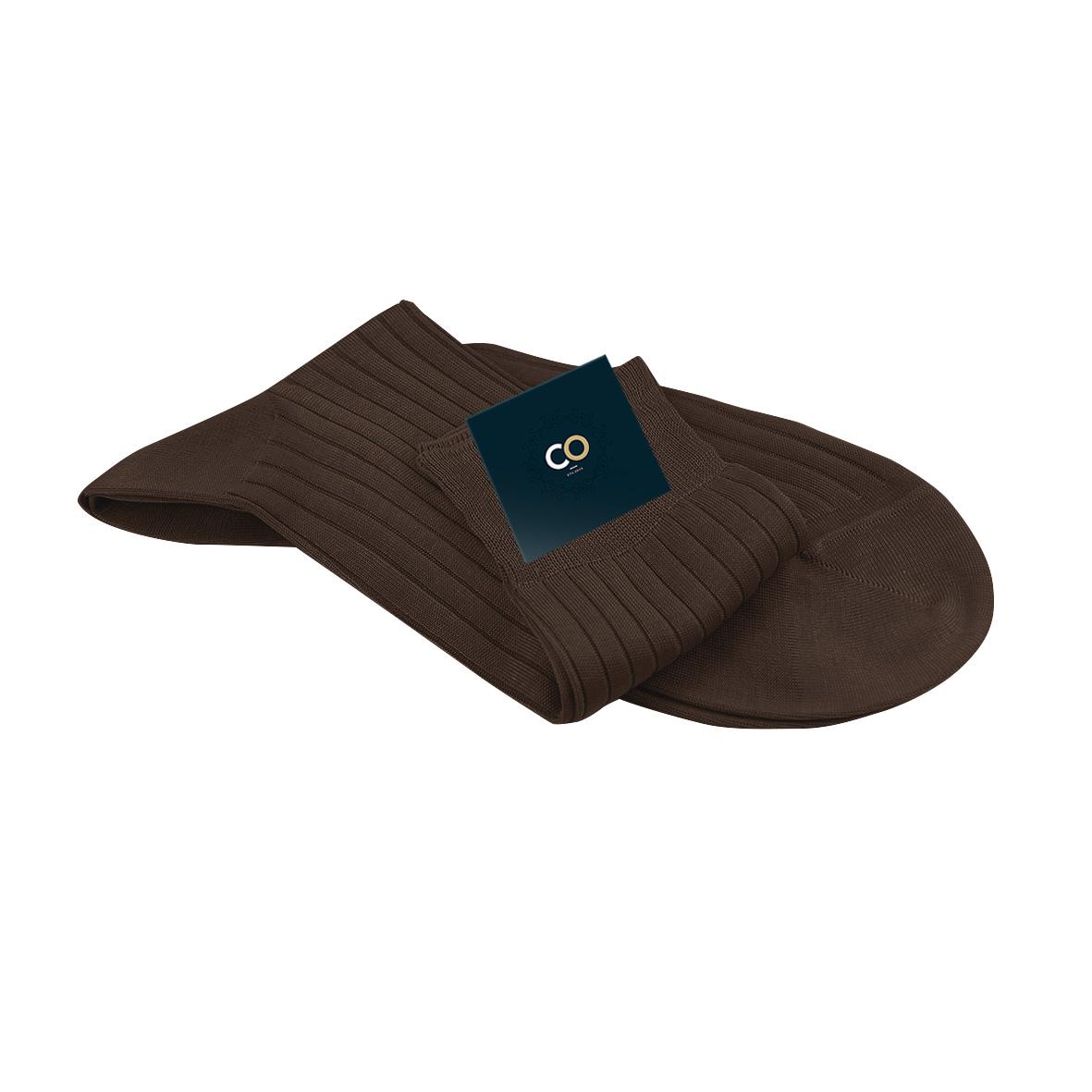 paires de chaussettes marrons pour homme